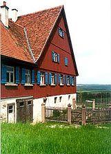 Ansicht des Hauptbaus mit anliegendem Anbau / Unterer Käshof in 74523 Schwäbisch Hall, Wackershofen