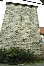 Burg Brauneck, Bergfried Südseite. / Burg Brauneck in 97993 Creglingen, Brauneck