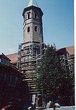 Spätromanischer Chorturm von Süden / Kirche St. Peter und Paul in 74072 Heilbronn