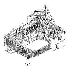 Isometrische Rekonstruktion / Ziegelhütte in 74869 Schwarzach, Unterschwarzach