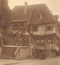 Foto aus den 1920er oder 1930er Jahren (StadtA SHA FS 00777) / Fachwerkhaus in 74523 Schwäbisch Hall