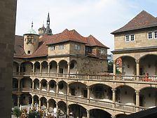 Schlosshof mit Blick auf die Altane im 2. Obergeschoss und den westlichen Arkadenflügel (2008) / Altes Schloss in 70173 Stuttgart, Stuttgart-Mitte