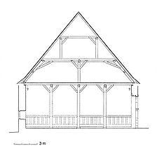 Rekonstruierter Querschnitt des ursprünglichen Zustands  / Zehntscheuer in 72355 Schömberg