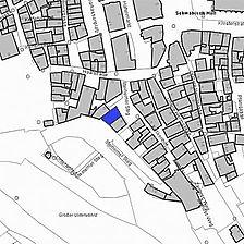 Lageplan 2007 (Vorlage LV-BW) / Fachwerkhaus, Sog. Sulmeisterhaus in 74523 Schwäbisch Hall