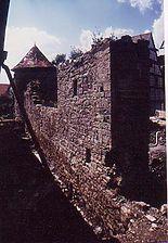 Stadtmauer am Seeturm, von Norden. / Stadtmauer am Seeturm in 97996 Niederstetten
