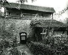 Ansicht von Westen 2007, Foto  Joachim Feist / Klostermauer-Abschnitt beim ehem. Küferhaus in 72074 Tübingen-Bebenhausen