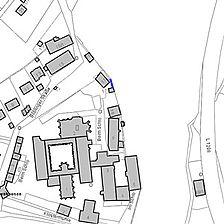 Lageplan 2007 (Vorlage LV-BW) / Klostermauer-Abschnitt beim ehem. Küferhaus in 72074 Tübingen-Bebenhausen