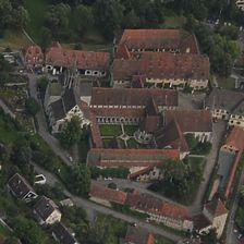 Luftbild von Westen (Läpple, 2008) / Westflügel mit Winter- und Laienrefektorium in 72074 Tübingen-Bebenhausen