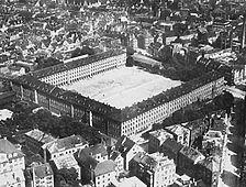 Luftbild von 1911  (Stadtarchiv Stuttgart) / Rotebühlbau, Rotebühlkaserne, große Infanteriekaserne in 70197 Stuttgart, Stuttgart-Mitte
