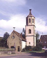 Denzlingen, ehem. Michaelskirche (sog. Storchenturm) von Südwesten.  / Storchenturm, ehem. Michaelskirche in 79211 Denzlingen