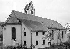 Ansicht von Nordost, 1991 / Kirche St. Martin in 78086 Brigachtal-Kirchdorf