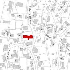Flurkarte 2006 (Vorlage LV-BW und LAD) / Kirche St. Martin in 78086 Brigachtal-Kirchdorf