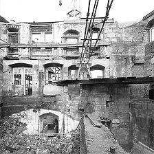 Photogrammetrische Aufnahme, 1978 Ausschnitt Nordwand des ausgebeinten Gebäudes / Salemer Hof in 73728 Esslingen am Neckar