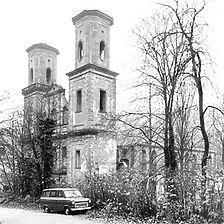 Aufnahme Klosterkirche von Südwest, 1979 / Klosterruine in 76359 Marxzell-Frauenalb