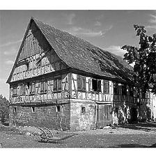 Aufnahme von Nordwest vor der Transloszierung, 1979 / Gasthaus in 74545 Michelfeld