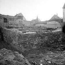 Photogrammetrische Aufnahme der Grabung Ansicht von West, 1983 / ehem. Schloss in 71672 Marbach, Marbach am Neckar
