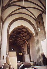 Gewölbe und Chorbogen von Osten. / Katharinenkirche in 71634 Egolsheim, Eglosheim