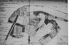 Lageplan des Schlossbereichs, um 1766 / Ehemalige Burg bei der Schlosskirche in 75175 Pforzheim, kein Eintrag