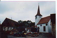Gesamtansicht von Nordwesten. / Altes Schulhaus in 74589 Satteldorf
