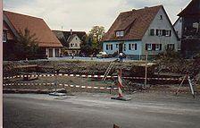 Gesamtansicht von Nordosten, rechts Wohngebäude Kirchstr.3   / Bereich der ehemaligen Scheune in 74523 Hessental
