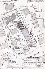 Lageplan, 1962 / Bereich der ehemaligen Scheune in 74523 Hessental