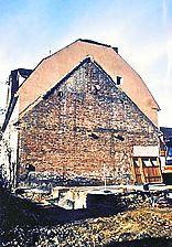 Sachsenheim, Äußerer Schlosshof 3, Blick auf Grabenstraße 7 (von Osten), nach Abbruch des Gebäudes / Ehem. Vorburg (Bereich) in 74343 Sachsenheim, Großsachsenheim