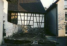 Gesamtansicht des ehemaligen Gebäudestandortes, Bädergasse 9, von Süden. / Fachwerkgebäude in 71720 Oberstenfeld