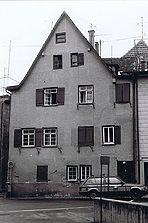 Westfassade der hofseitigen Hauserweiterung als Queranbau / Fachwerkhaus in 73728 Esslingen a.N., Esslingen am Neckar