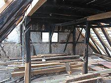 Dachraum im 1. DG während der Sanierung (2006) / Wohnhaus in 97941 Tauberbischofsheim