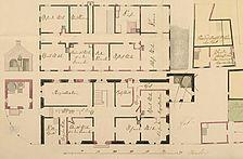 Ausschnitt aus einem Plan von 1808 [StA LB D39, Bü. 709] / ehem. Obervogts-Behausung und späteres Forstamt in 73230 Kirchheim unter Teck