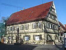 Ansicht des Gebäudes von Südosten (2007) / ehem. Obervogts-Behausung und späteres Forstamt in 73230 Kirchheim unter Teck