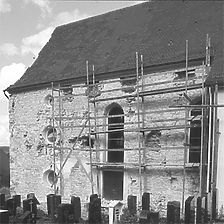 Aufnahme Südseite, 1980 / Katholische Kirche in 72393 Burladingen-Killer