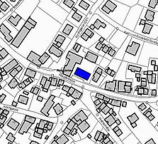 Ausschnitt Liegenschaftskataster / Bauernhaus mit Scheune, Wohn- und Geschäftshaus in 72124 Pliezhausen-Rübgarten
