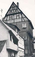 Ansicht von Nordosten, 1977 (Foto: StadtA SHA FS 02790b) / Wohnhaus, sog. Pfaff-Judas-Haus in 74532 Schwäbisch Hall