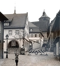 Ensemble von Nordwest / Areal mit den Wohnhäusern 75, 77, 79 in 74354 Besigheim (Stadtarchiv Besigheim)