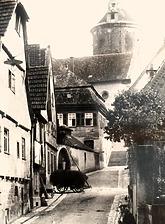 Ansicht von Nordwest / Areal mit den Wohnhäusern 75, 77, 79 in 74354 Besigheim (Stadtarchiv Besigheim)