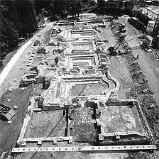 Aufnahme von West, 1982 / Römische Badruine in 79410 Badenweiler