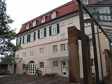 Ansicht von Nordwest, Innenhof / Schulgebäude; ehemalige Lateinschule in 74354 Besigheim (Denkmalpflegerischer Werteplan, Gesamtanlage Besigheim, Regierungspräsidium Stuttgart)