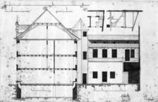 Querschnitt (undatiert) / Wohn- und Geschäftshaus in 79219 Staufen, Staufen im Breisgau (Stadtarchiv Staufen)