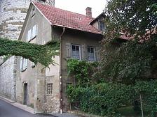 Ansicht von Süden, Wohnhaus / Wohnhaus mit Scheune (ehem. Torwächterhaus am Oberen Tor) in 74354 Besigheim (2007 - Denkmalpflegerischer Werteplan, Gesamtanlage Besigheim, Regierungspräsidium Stuttgart)