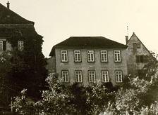 Historische Aufnahme; Ansicht von Nordost / Oberer- und Unterer Biologiesaal, abgegangen in 74354 Besigheim (Stadtarchiv Besigheim)