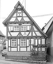 Hindenburgstraße 12, Ansicht von Nord, 1981 / Fassadenabwicklung in 71384 Weinstadt-Strümpfelbach