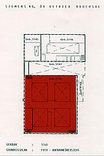 Geb. Nr. 5148, Grundriss, Urheber: Simens AG / Werkhalle der ehem. Machinenfabrik Bruchsal AG, Gebäude 5148 in 76646 Bruchsal