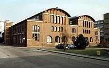 Geb. Nr. 5148, Ansicht von Südwesten,  Urheber: Simens AG / Werkhalle der ehem. Machinenfabrik Bruchsal AG, Gebäude 5148 in 76646 Bruchsal