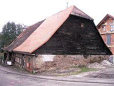 ehem. Zehntscheuer, Ansicht von Nordwesten, Urheber: Säubert, Bernd F. (Architekturbüro Bernd F. Säubert) / ehem. Zehntscheuer in 76307 Karlsbad-Auerbach
