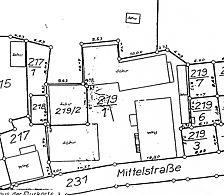 ehem. landwirtschaftliche Hofanlage, Lageplan,  Urheber: Säubert, Bernd F. (Architekturbüro Bernd F. Säubert) / ehem. landwirtschaftliche Hofanlage in 76703 Kraichtal-Menzingen