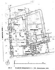 sog. Koch'sche Haus, Grundriss, EG, Urheber: Schneider, Peter (Büro für Bauforschung / Schneider, Büro für Bauforschung) / sog. Koch'sche Haus in 76661 Philippsburg