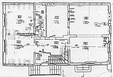 Kerns-Max-Haus, Grundriss, EG,  Urheber: Crowell, Barbara und Robert (Diplomingenieure Freie Architekten) / Kerns-Max-Haus  in 76297 Stutensee-Blankenloch