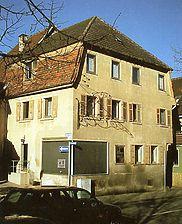 Gasthaus Krone, Ansicht von Südosten,  Urheber: Konieczny (Planungsinstitut für ländliche Siedlung ) / Gasthaus Krone  in 75056 Sulzfeld