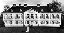 Schloss Stutensee, Ansicht von Westen, Urheber: Regierungspräsidium Karlsruhe, RPK, Ref. 26 / Schloß Stutensee in 76297 Stutensee, Schloß Stutensee